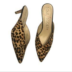 Sole Society Maleah Leopard  Mule Pump